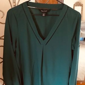 WHBM - NWT - Green Tunic Blouse size 4